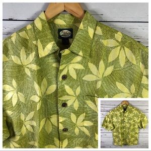 Tommy Bahama Linen button up shirt yellow floral